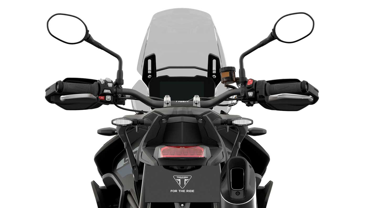rear CGI shot of Tiger 900 GT Low