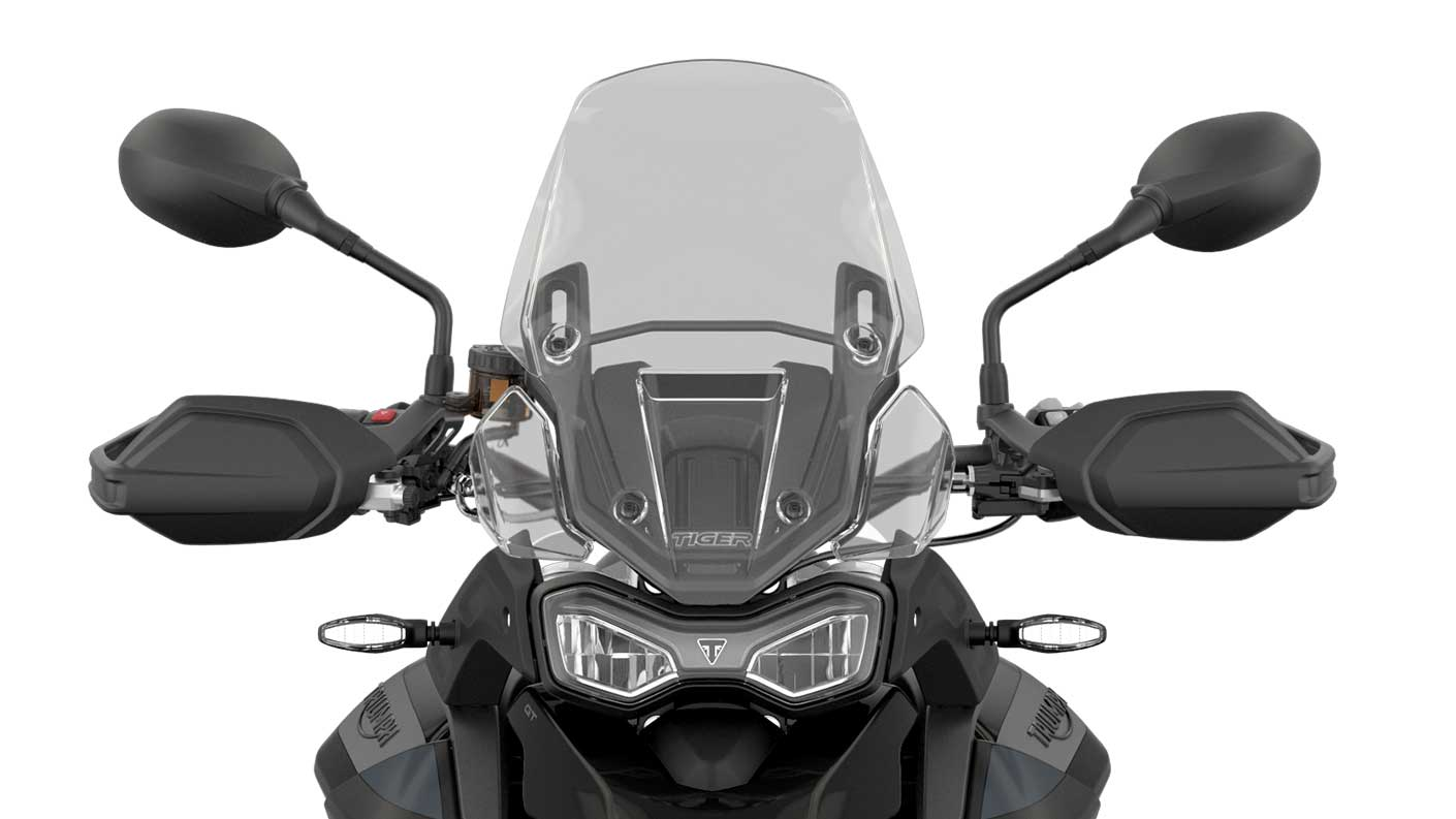 CGI close-up of the front of Tiger 900 GT Low