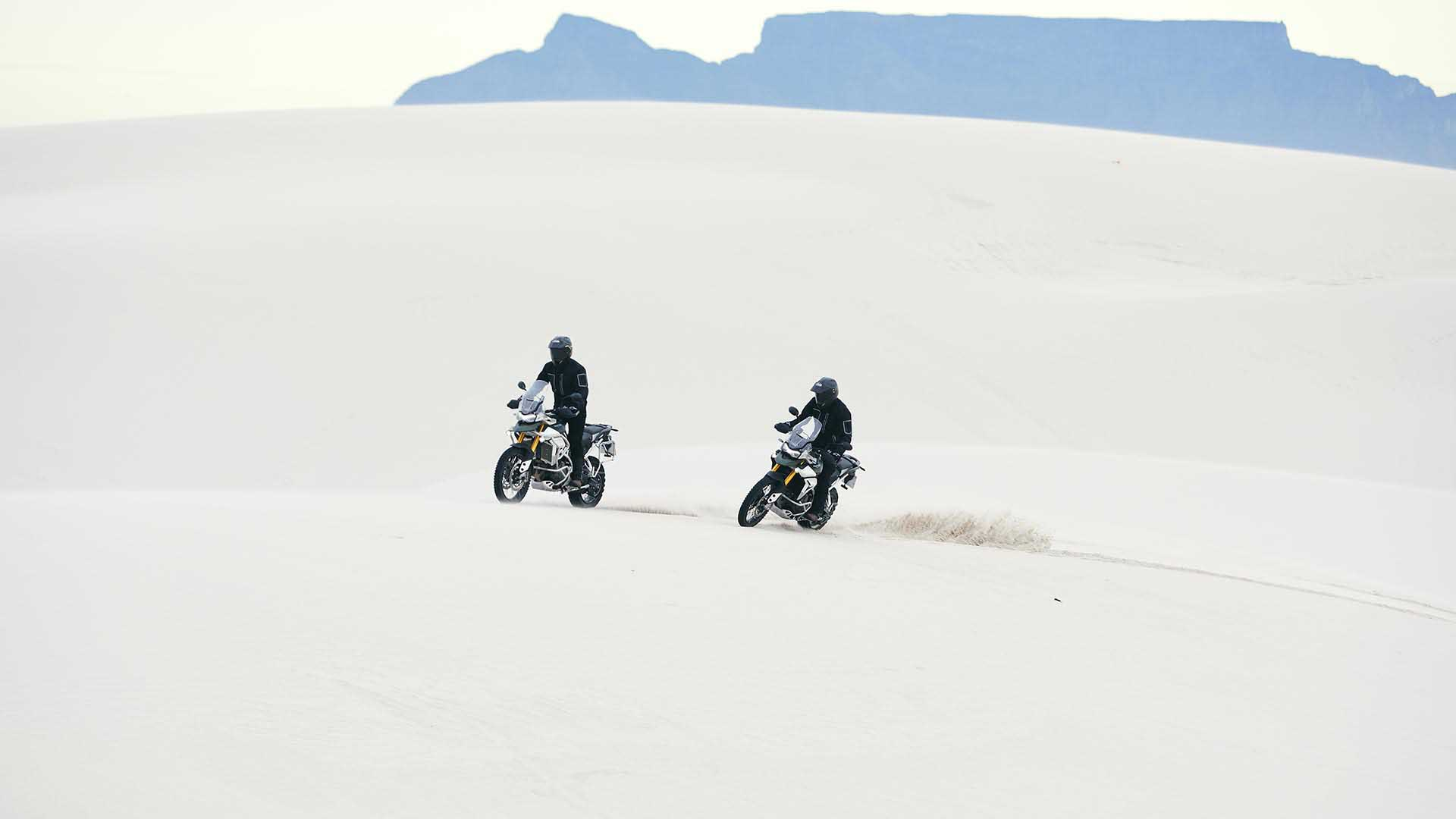 Action shot of Triumph Tiger Rally Pro's