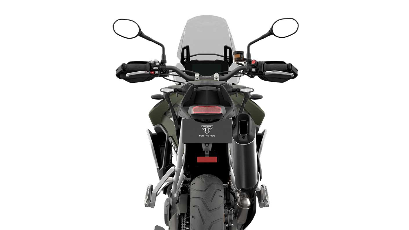 Rear view CGI of Tiger 900 Rally