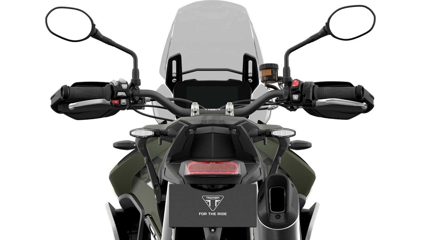 CGI close -up of  Triumph Tiger 900 Rally instruments
