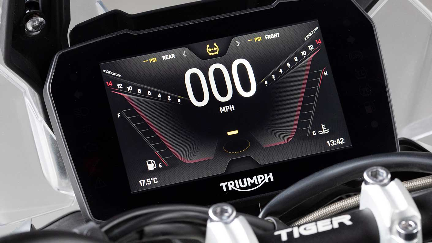 Triumph Tiger 900 TFT screen