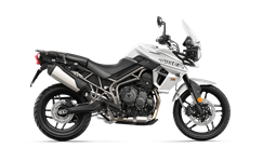 Tiger 800 XR in Pure White