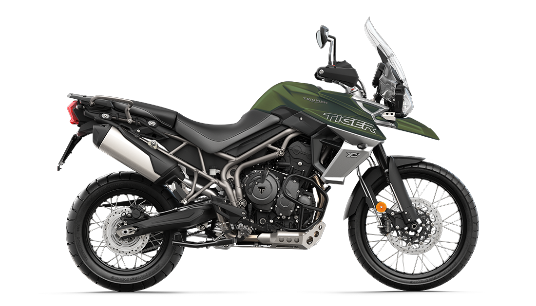 Tiger 800 XCA in Matt Khaki Green - CGI
