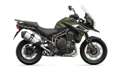 Tiger 1200 XCX Right CGI in Matt Khaki Green