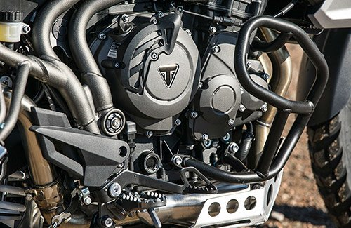 Triumph Tiger 800 engine detail