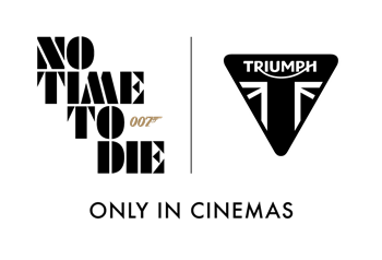 Triumph and No Time To Die logo lock up
