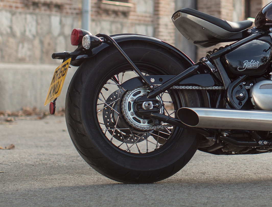 Triumph Bonneville Bobber rear wheel detail
