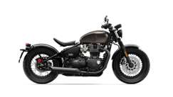 Triumph Bonneville Bobber Black Side Shot