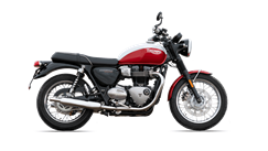 Triumph T100 Bud Ekins Special Edition Cut out korosi red snowdonia white