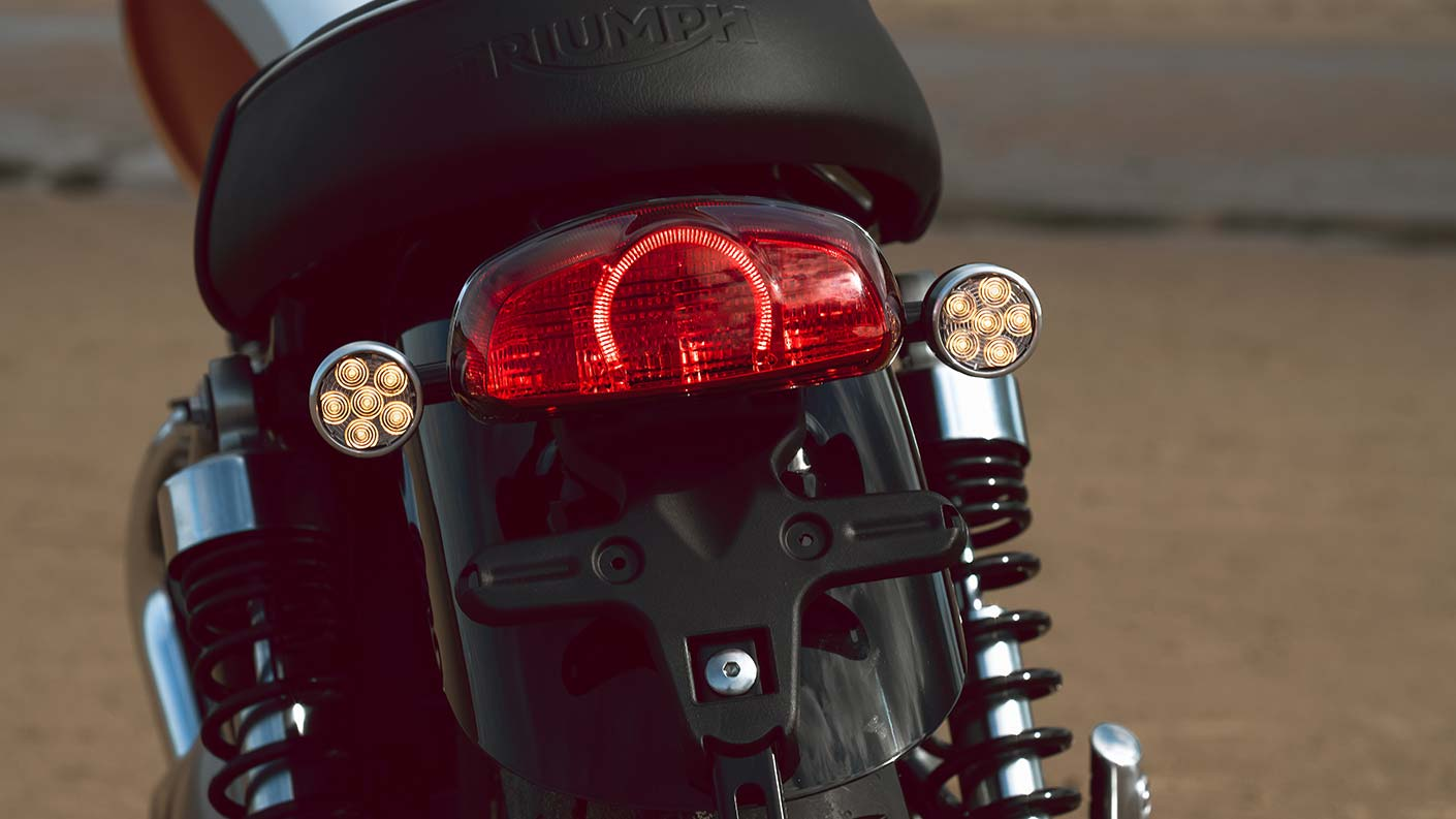 Bud Ekins special limited edition T100 rear light and indicators