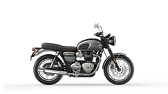 Bonneville T120 goldline in silver ice and competition green MY22