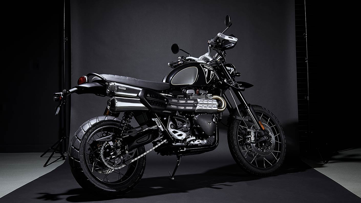 Triumph Scrambler 1200 Bond Edition with unique 007 branding