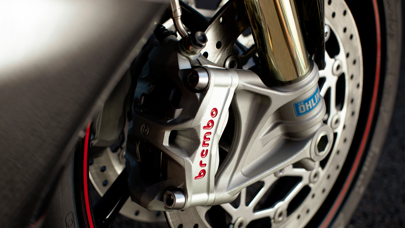USA Daytona Moto2™ 765 Brembo Brake detail
