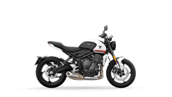 Triumph Trident  CGI Right Side in Crystal White