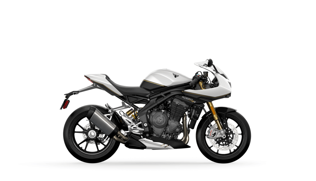 Triumph Street Triple 1200 RR in Crystal White and Storm Grey