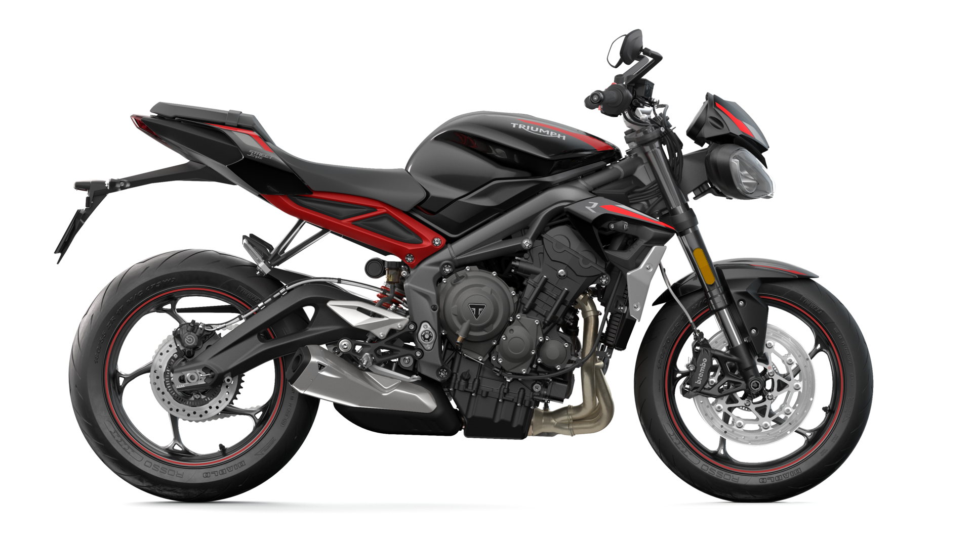 Triumph Street Triple R right handside CGI