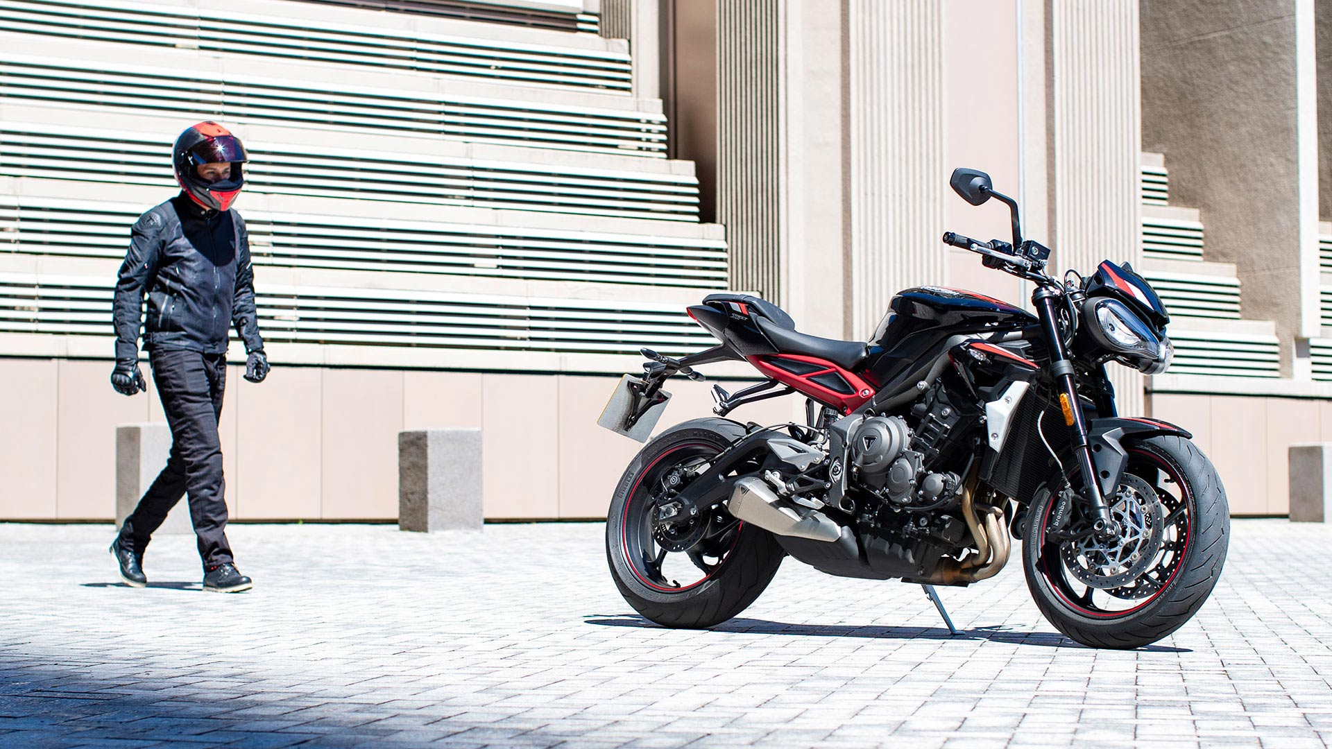 Triumph Street Triple R stationary