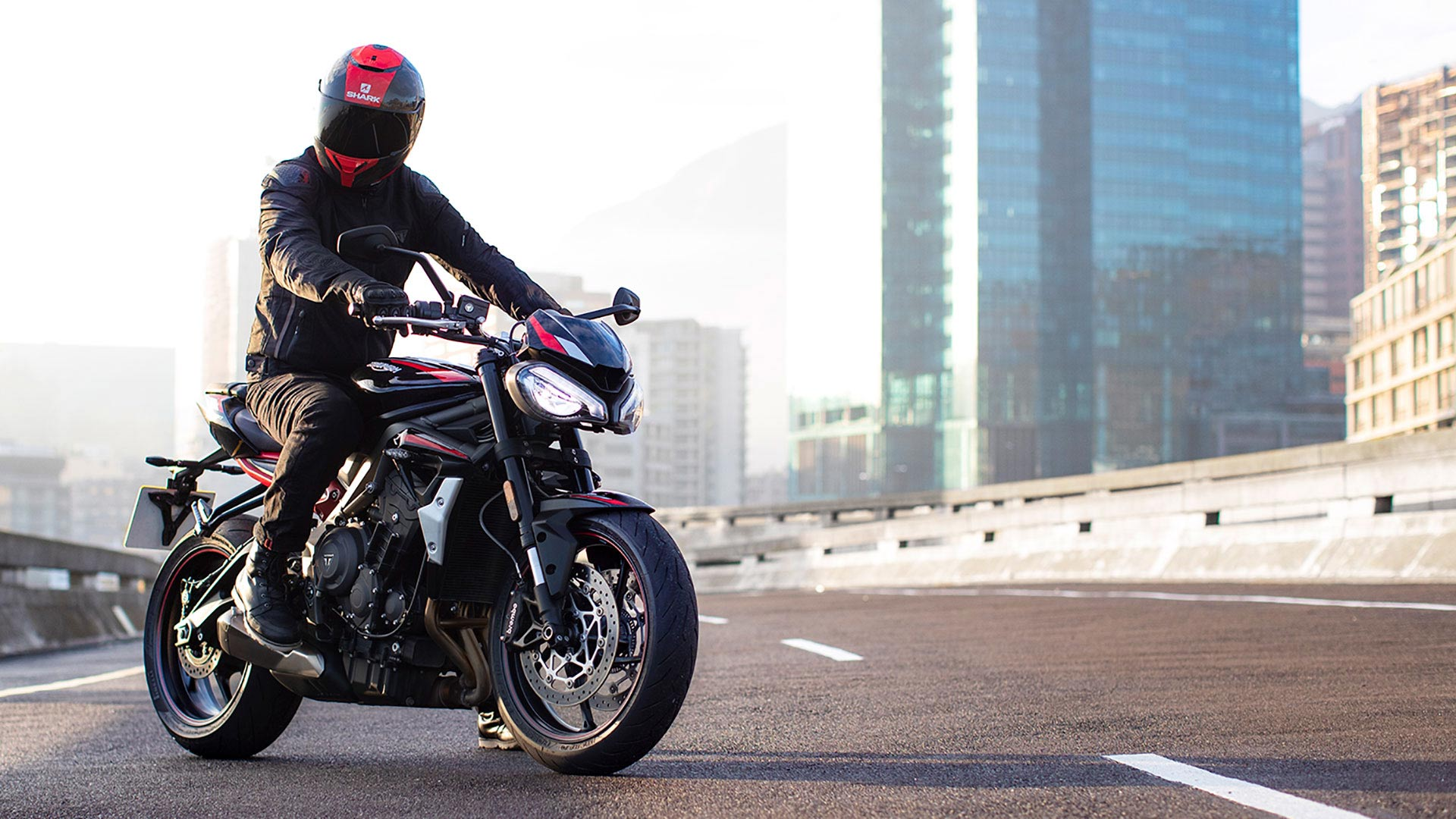 Rider on Triumph Street Triple R