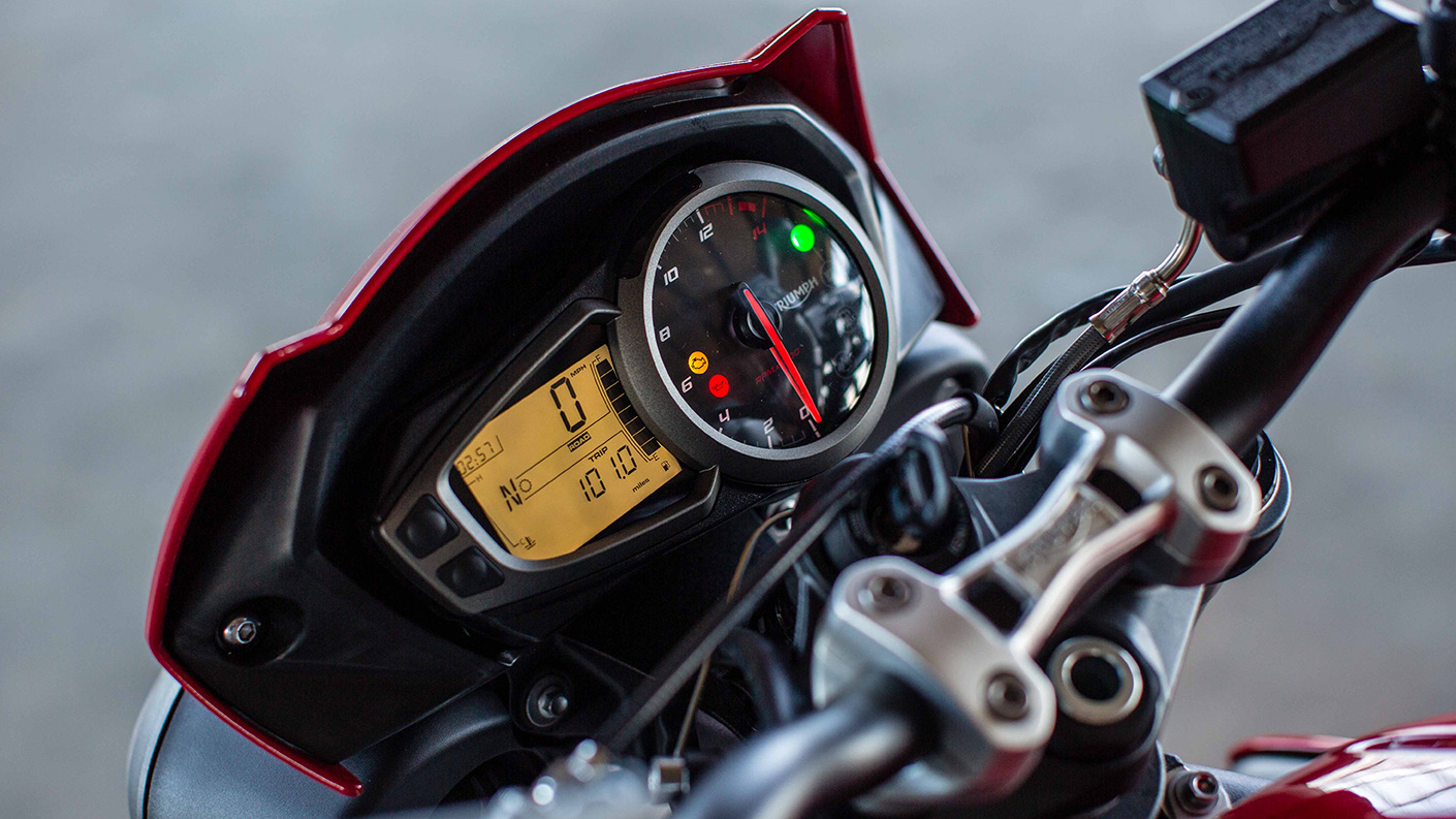 LCD Display on Triumph Street Triple