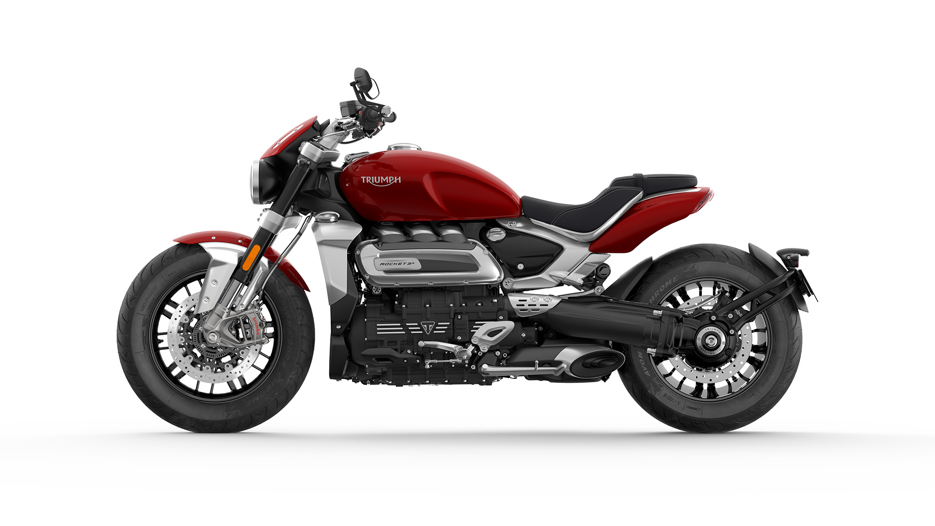CGI Side view of the new Triumph Rocket 3 R
