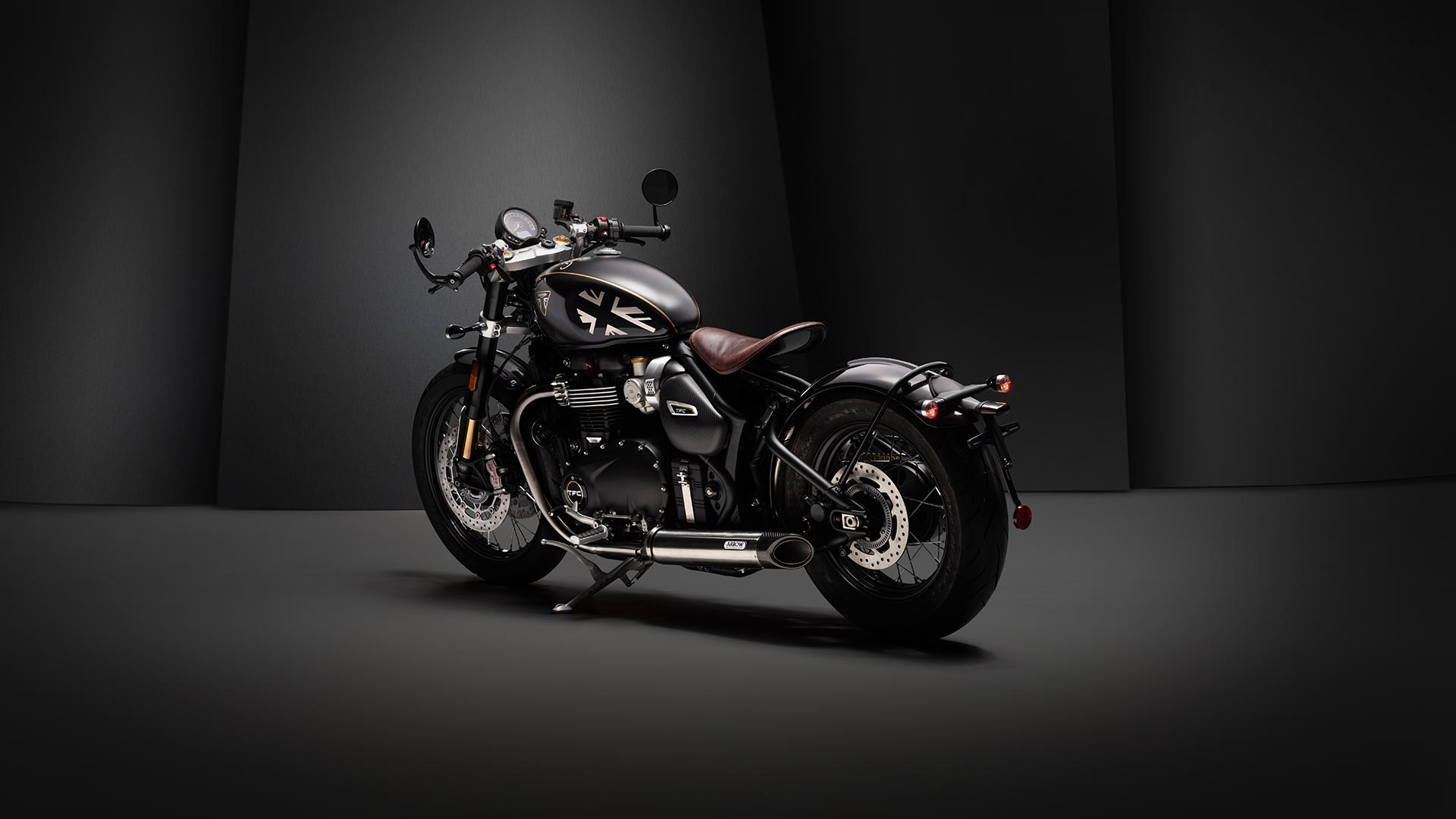 Wide shot of the Triumph Bobber TFC
