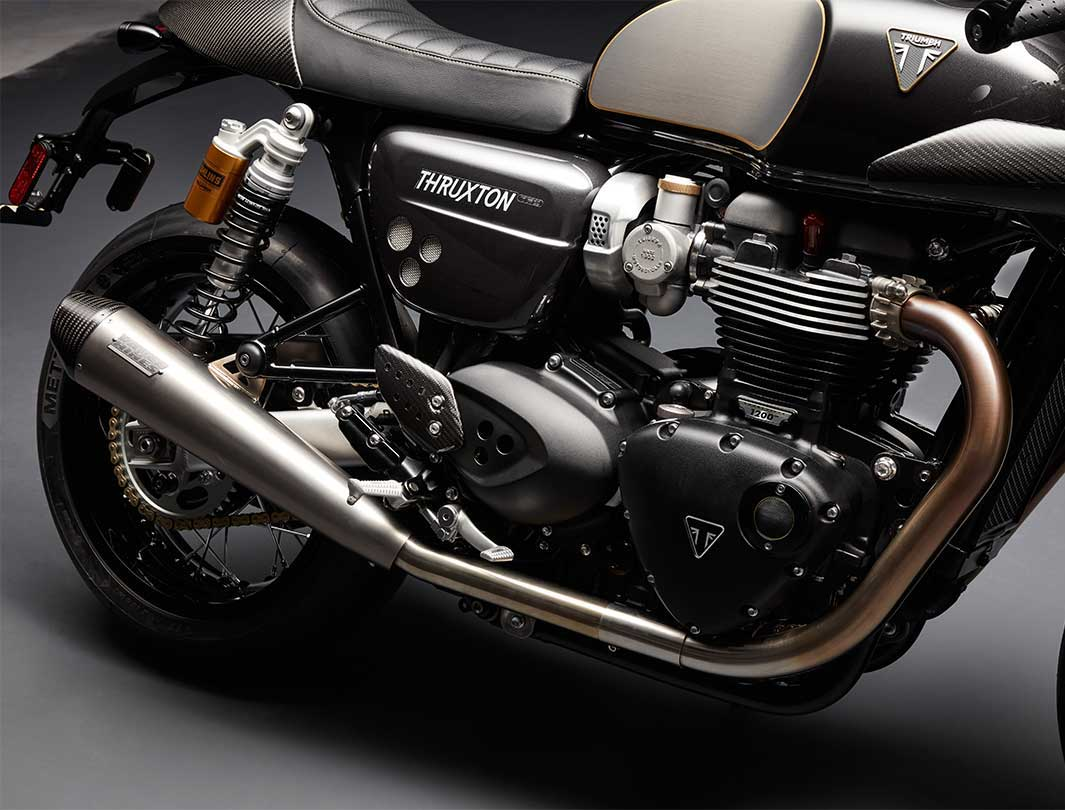 Triumph Thruxton TFC engine and exhaust unit