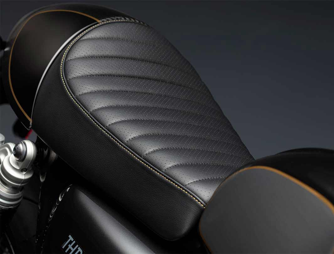 Triumph Thruxton TFC premium leather seat