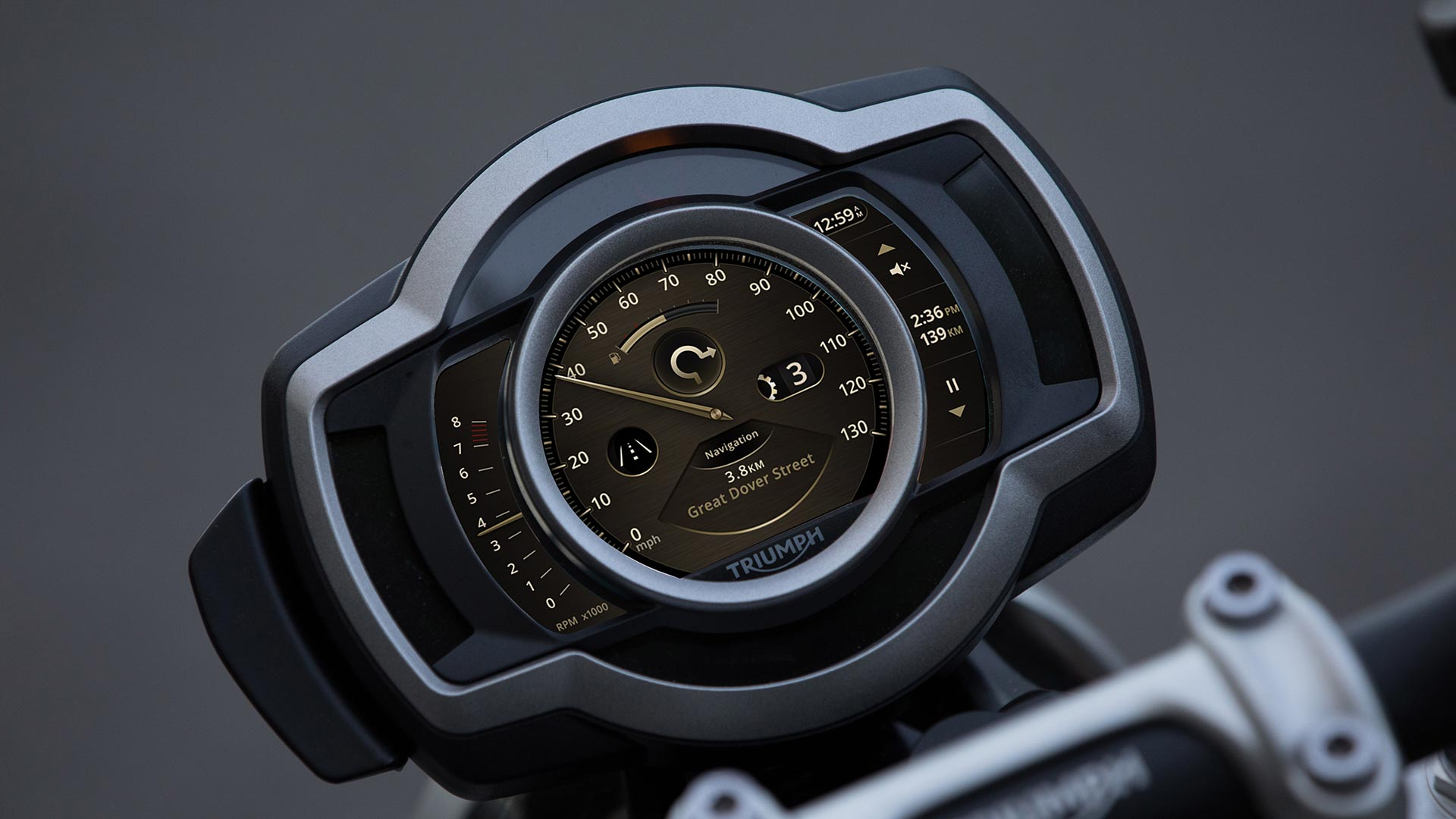 My Triumph Connectivity System Display 2019