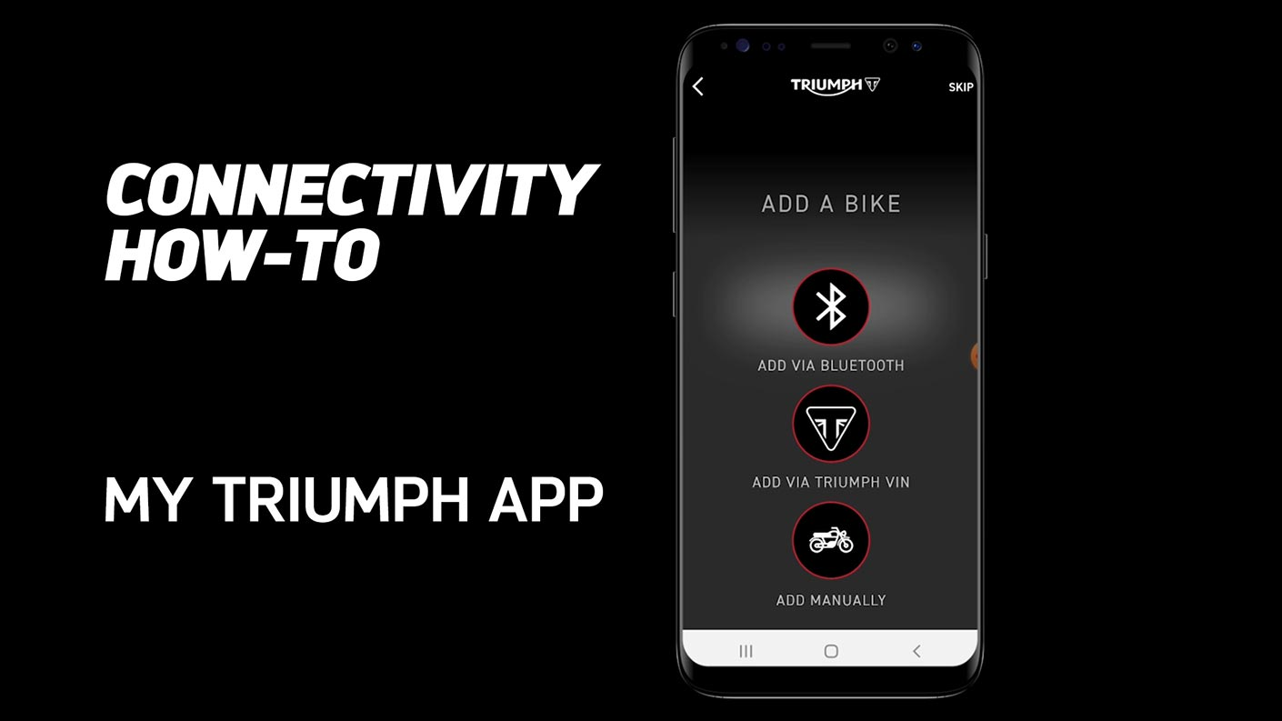How to use the My Triumph Connectivity App