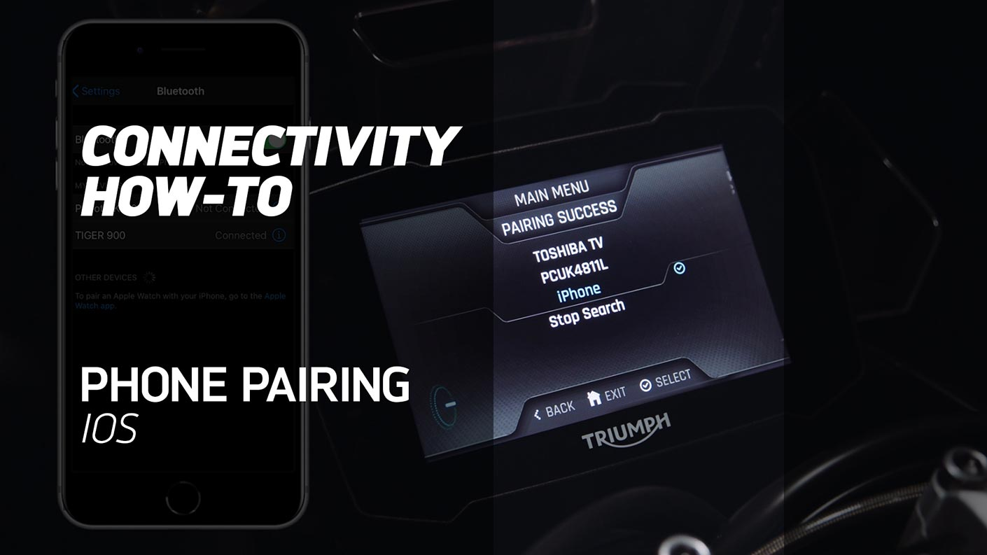 How to Pair your Phone (iOS) on the My Triumph Connectivity Module
