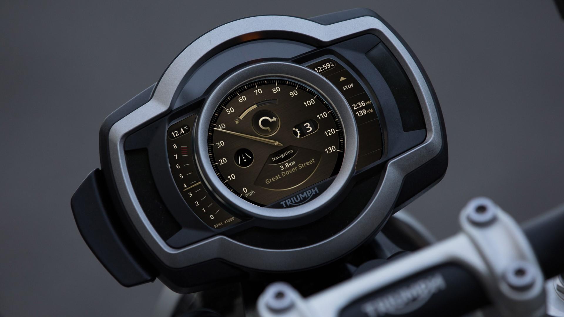 Triumph Scrambler 1200 Quartz TFT screen