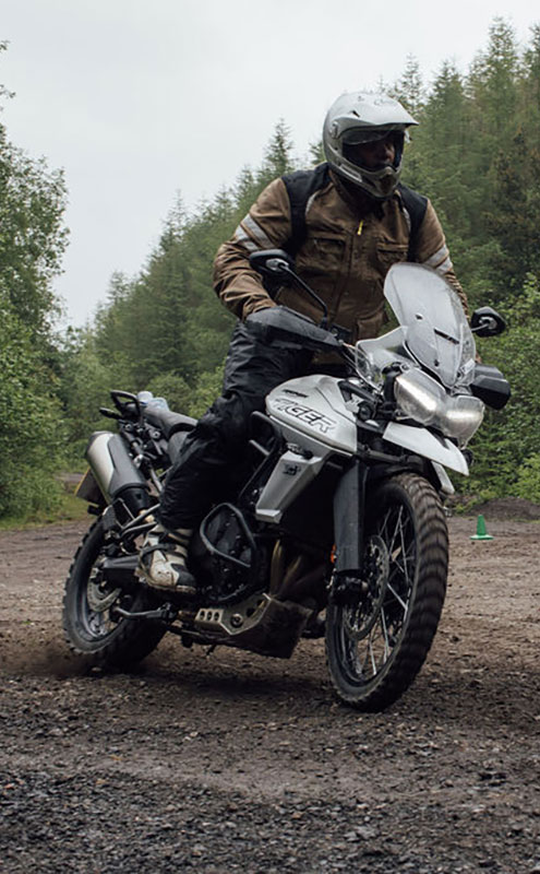 Off-road riding on the Triumph Tiger 800