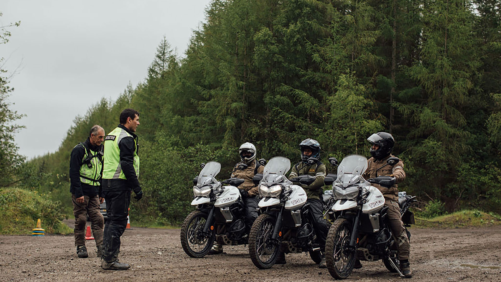 Triumph training course for Tiger 800 experience day
