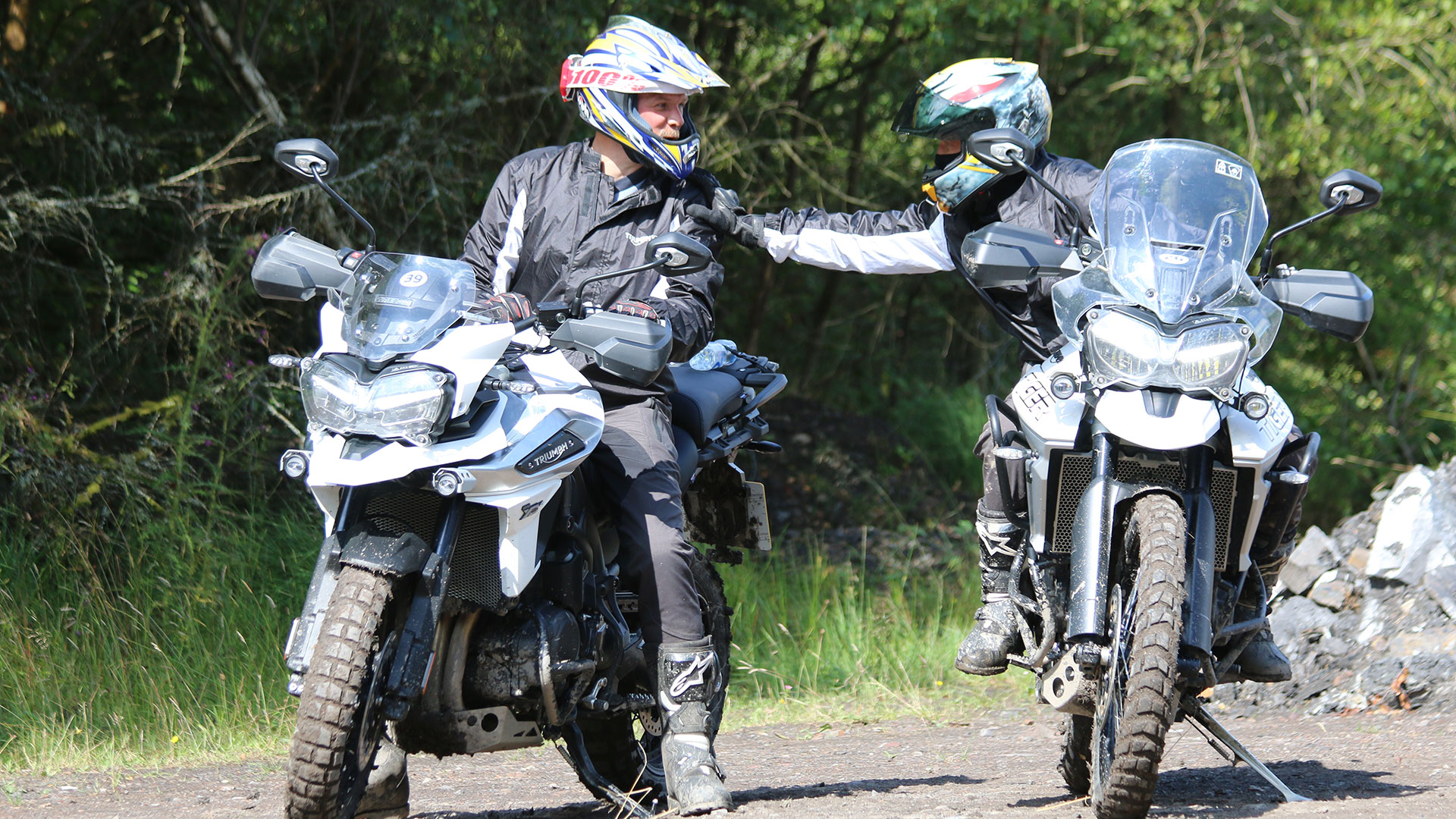 Satisfied riders on The Triumph Tiger 800 and 1200
