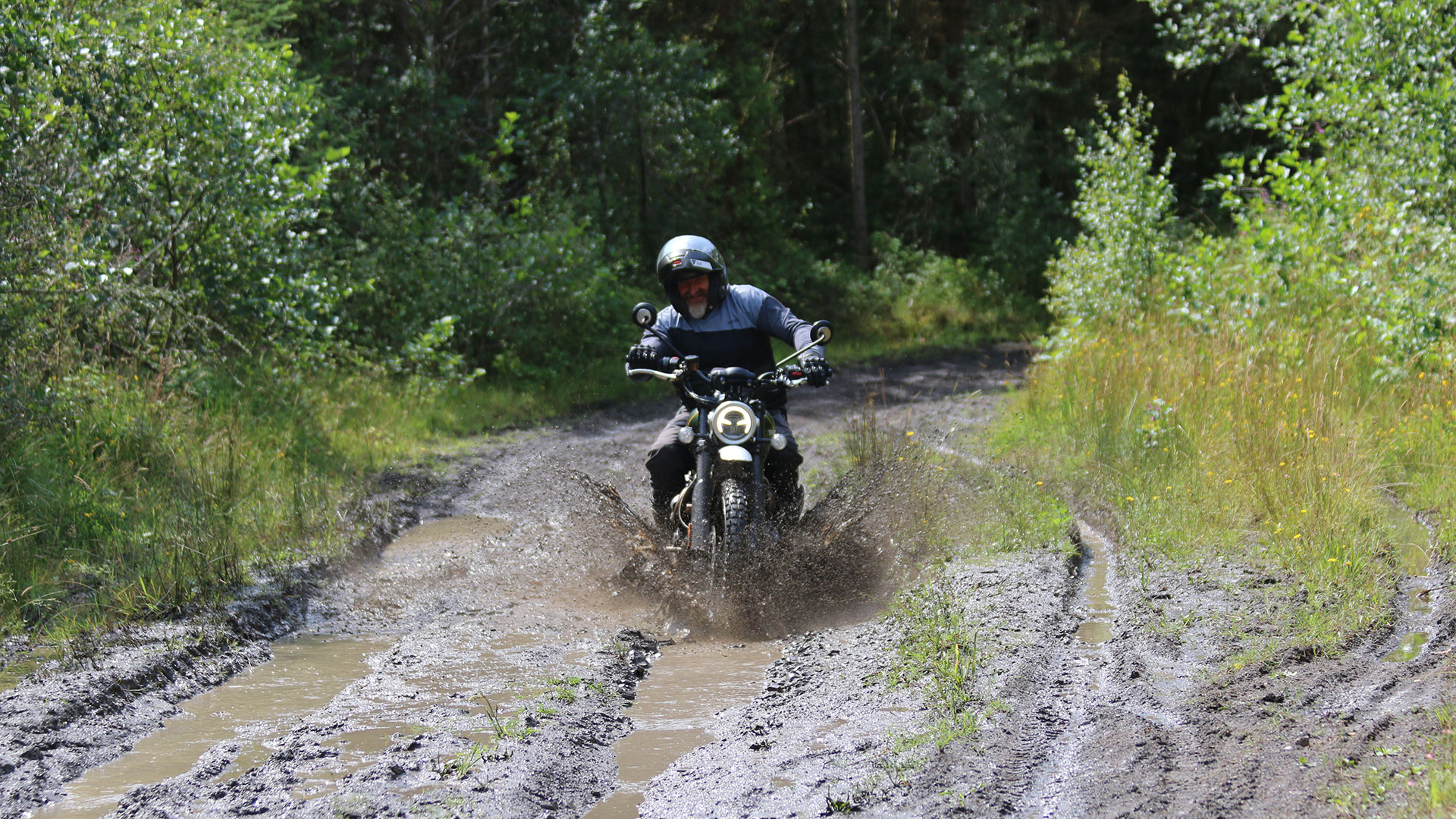 Triumph Scrambler 1200 XC completing the intermediate trail ride